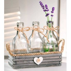 "Комплект вазочек ""Шебби"" 4 предмета"