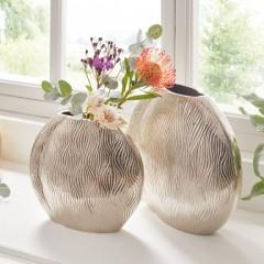 """Декоративные вазы """"Волны"""", металл, 2 штуки"""