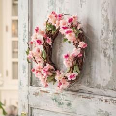 """Декоративный венок """"Цветы вишни"""" диаметр 32 см"""