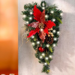 """Декоративный подвес """"Рождественская звезда"""" с подсветкой, высота 45 см"""