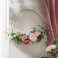 """Декоративный подвес """"Эвкалипт и розы"""", диаметр 45 см"""