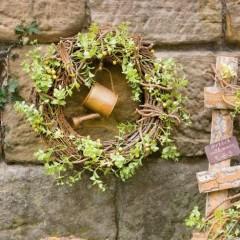 """Декоративный венок """"Весна в саду"""", диаметр 40 см"""
