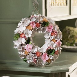 """Декоративный венок """"Цветы"""", диаметр 33 см"""
