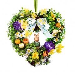 """Декоративный венок """"Пасхальное сердце"""", диаметр 27 см"""