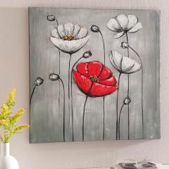 """Картина """"Маки"""" холст, масло, 55х55 см"""