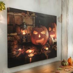 """Украшение стены, картина """"Хэллоуин"""" с подсветкой, 40х60 см"""