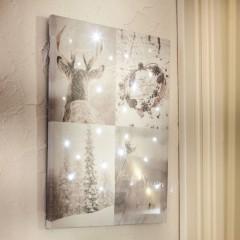 """Украшение стены, картина """"Первый снег"""" с подсветкой, 30х40 см"""