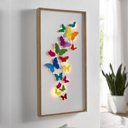 """Украшение стены, картина """"Бабочки"""" со светодиодами, В 60 см"""
