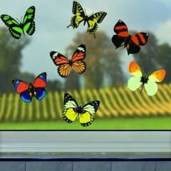 """Наклейки на стену """"Яркие бабочки"""" винил, 12 шт."""