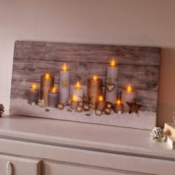 """Украшение стены, картина """"Свет свечей"""" с подсветкой, 30х60 см"""