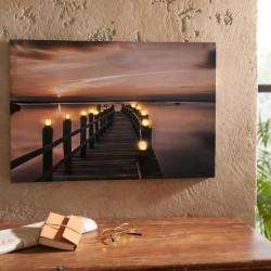 "Картина ""Закат"" с 10 светодиодами, 60х40 см"