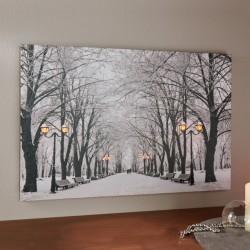 """Картина """"Зимний парк"""" со светодиодами, 60х40 см"""