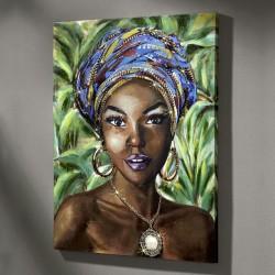 "Картина ""Африканская женщина"", холст, 75х100 см"