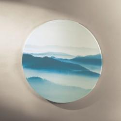 """Картина """"Утренний туман"""" холст, диаметр 58 см"""