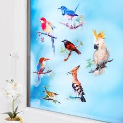 """Наклейки на окна """"Парад птиц"""" 25 штук"""