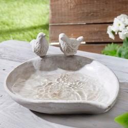 """Поилка для птиц """"Птенчики"""" каменная смесь"""