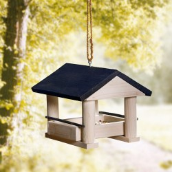 """Кормушка для птиц """"Место отдыха"""" сосна, 26х26х22 см"""