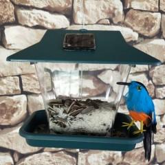"""Кормушка для птиц """"С подсветкой"""" 20х15х18 см"""