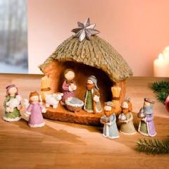 """Рождественский декор """"Ясли"""" 10 предметов"""