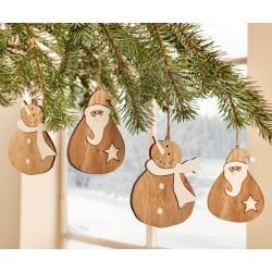 """Декоративные подвески """"Новогодние"""" дерево, 4 шт."""