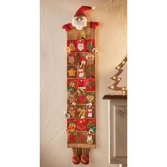 """Рождественский календарь """"Санта"""" 24х94 см"""