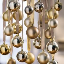 """Декоративные подвески """"Елочные шары золото"""" 70 штук"""