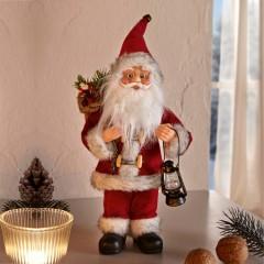 "Декоративная фигура ""Санта с фонариком"" В 30 см"