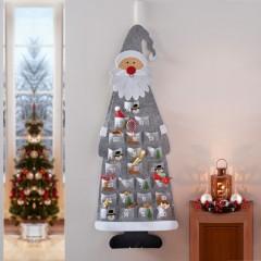 """Рождественский календарь """"Санта в сером"""" 43х117 см"""