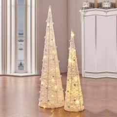 """Декоративные фигуры """"Снежные купола"""" с подсветкой, 2 штуки, высота 60 и 80 см"""