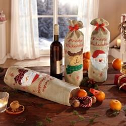 """Подарочные мешочки """"Веселого Рождества"""" 3 штуки"""