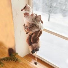 """Декоративная фигура """"Взбирающийся Санта Клаус"""" высота 35 см"""