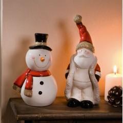 """Декоративные фигурки """"Санта и Снеговик"""" фарфор, 2 штуки"""