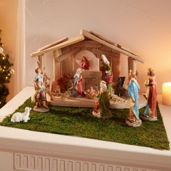 """Декоративные фигуры """"Для рождественских яслей"""" полистоун, 11 штук"""