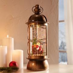 """Декоративный фонарь """"Санта"""" с подсветкой, высота 31 см"""