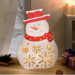 """Декоративная фигура """"Снеговик"""" со светодиодами"""