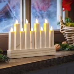 """Световой декор """"Свечи"""" дерево, со светодиодами, 23х3х16 см"""