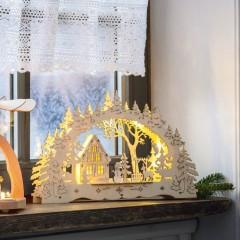 """Световой декор """"Зима"""" дерево, со светодиодами, 43х5х25 см"""