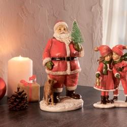 "Декоративная фигурка ""Санта Клаус с елкой"" В 18 см"