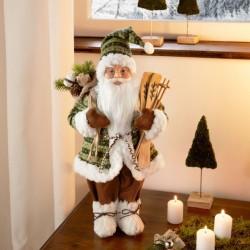 """Декоративная фигура """"Санта с лыжами"""", высота 46 см"""