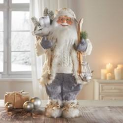 """Декоративная фигура """"Санта. Зимнее путешествие"""" высота 46 см"""