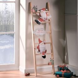 """Новогодний декор """"Лестница Санты"""" дерево, 25х90 см"""
