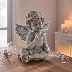 """Декоративная фигурка """"Ангелок с серебряными крыльями"""", высота 23 см"""