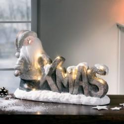 """Декоративная фигура """"Санта. Рождество"""" с подсветкой, 37х14х25 см"""