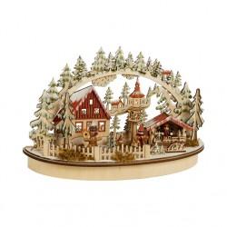 "Новогодний декор ""Рождественская деревня"" со светодиодами, 35х12х22 см"