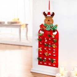 """Рождественский календарь """"Веселый Лосик"""" войлок, 28х69 см"""