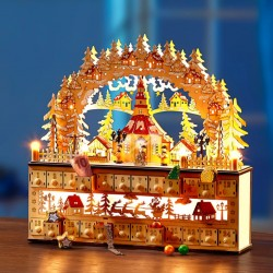 """Новогодний декор """"Рождественский календарь"""" со светодиодами, 45х11х43 см"""