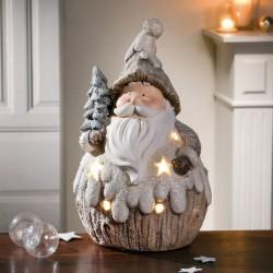 """Декоративная фигура """"Санта в снегу"""" со светодиодами, высота 38 см"""