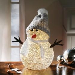 """Декоративная фигура """"Снеговик"""" с подсветкой, высота 32 см"""