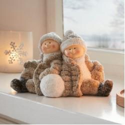 "Декоративная фигура ""Дети со снежком"", 24х12х15 см"