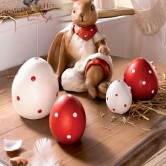 """Декоративные фигурки """"Яйца в точку"""" терракота, 4 штуки"""
